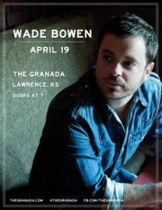 Wade Bowen @ The Granada | Lawrence | Kansas | United States