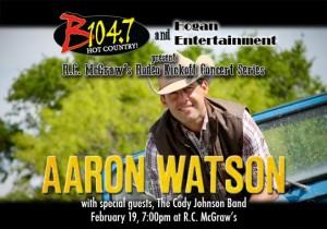 Aaron Watson  - Rodeo Kickoff Concert @ R.C. McGraw's  | Manhattan | Kansas | United States