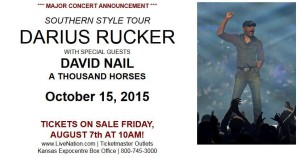 Darius Rucker, David Nail, and A Thousand Horses @ Kansas ExpoCenter  | Topeka | Kansas | United States